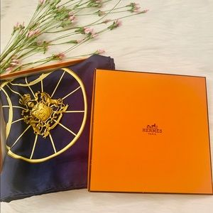 💯 Authentic Hermes Ledoux Springs Carriage Scarf